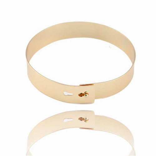 GOLD METAL PLATED ANKLE CUFF (ONE PAIR)-