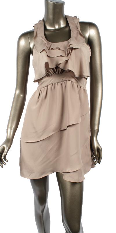 SALMON IN LOVE DRESS-salmon, dress, short, ruffle