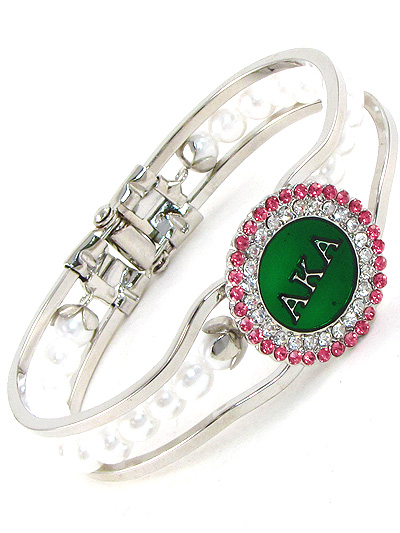 SORORITY A.K.A. PEARL BANGLE-AKA, BRACELET, BANGLE