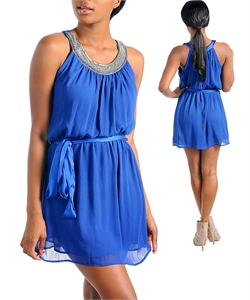 KAYLA ROYAL BLUE DRESS-blue, dress, cocktail, evening, stud, bead