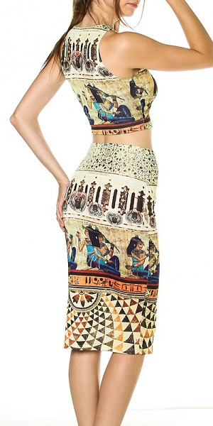 GREEK CROP TOP AND SKIRT SET-