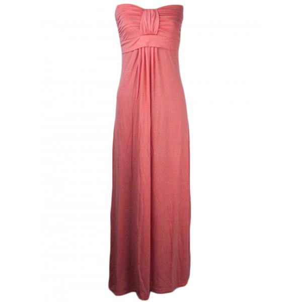 KARLA STRAPLESS MAXI DRESS - CORAL-