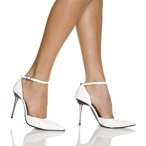 KATE POINTED TOE PUMP - WHITE-