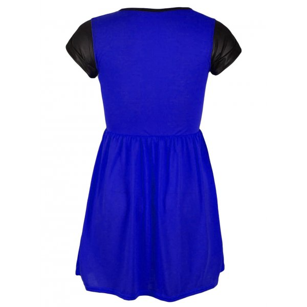 KELLY SKATER DRESS - BLUE-