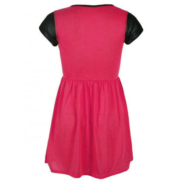 KELLY SKATER DRESS - PINK-