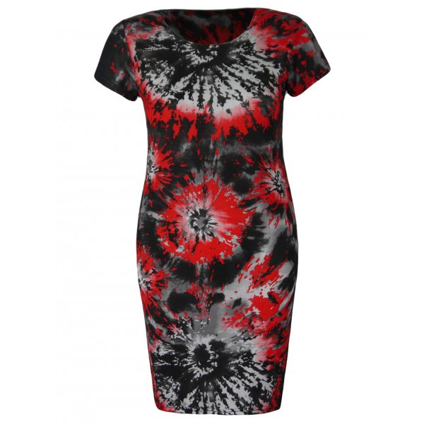 SEXY PAINTER DRESS - RED-