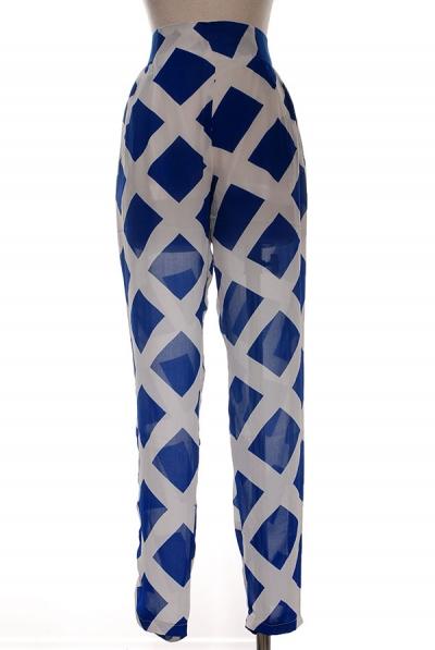 PAYTON SHEER PANTS - BLUE-
