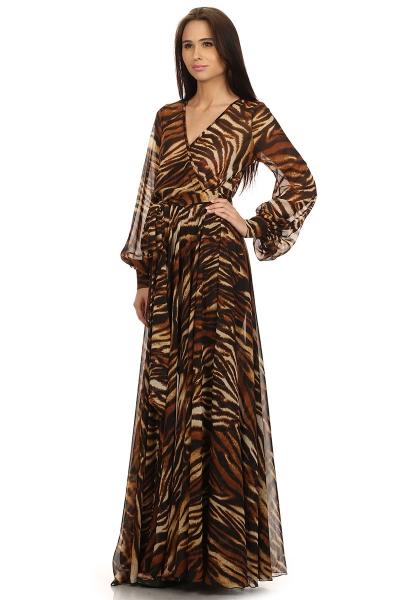 Sahara Cruise Maxi Dress Tiger Print