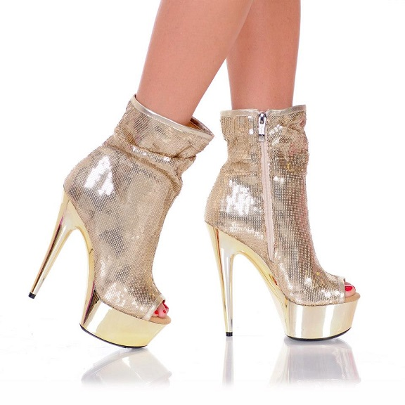 SASSY SEQUIN BOOTS - GOLD-