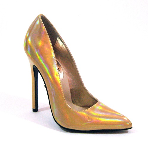 SKAI PUMPS - GOLD IRIDESCENT-