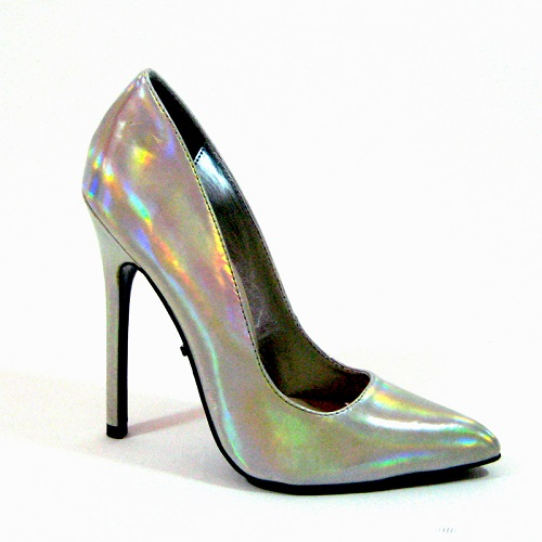 SKAI PUMPS - SILVER IRIDESCENT-
