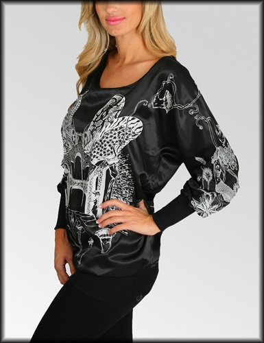 BLACK BRI TUNIC TOP-black, tunic, top, shirt