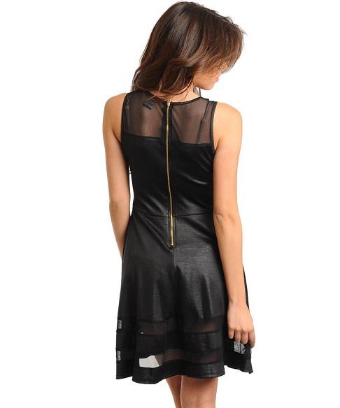 ASIA SKATER DRESS - BLACK-