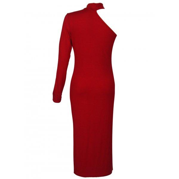 ALEXANDRA DRESS - RED-