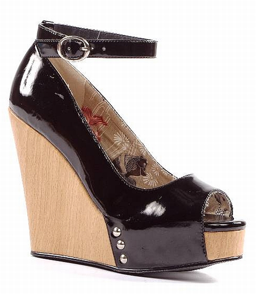 ROCKEE BLACK WEDGE-ROCKY, PENTHOUSE, ELLIE, WEDGE
