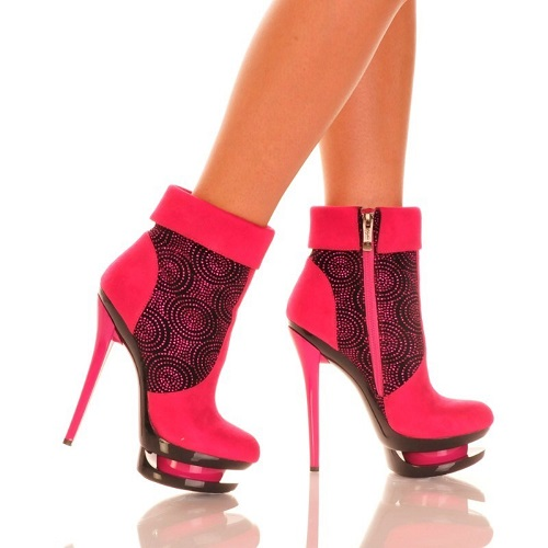 SIERRA ANKLE BOOTIES - PINK-DIAMOND-131