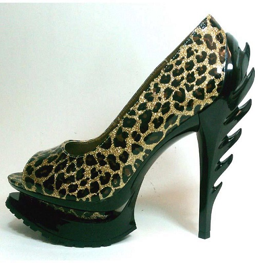 ROCK QUEEN PUMP - GOLD LEOPARD-