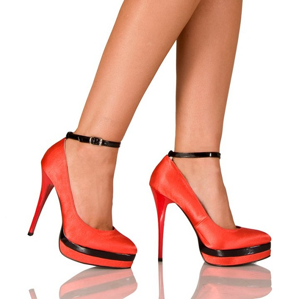 KISSES PLATFORM PUMPS - RED-RED, PUMPS, STILETTO, SHOES