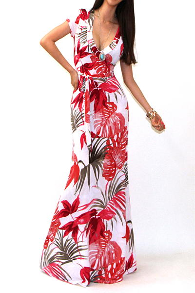 ALANA TROPIC MAXI DRESS-