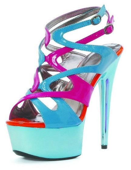 AVA COLOR BLOCK SANDAL - BLUE-609-GUAVA