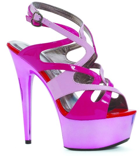 AVA COLOR BLOCK SANDAL - PINK-