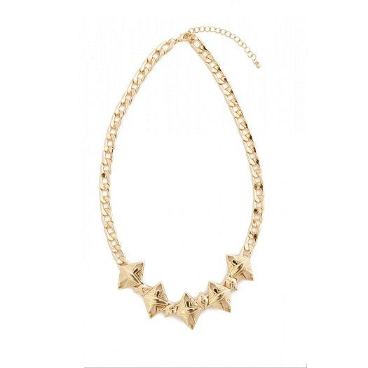 AZTEC SPIKE NECKLACE W/ EARRINGS - GOLD OR SILVER-