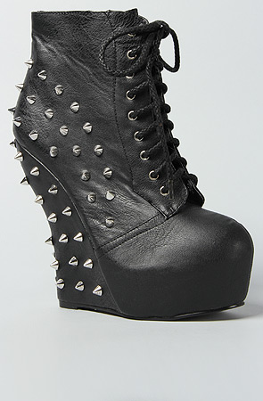 BELLA SPIKED ANKLE BOOTIE - BLACK-