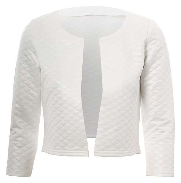 CHANTAL CROP JACKET - WHITE-