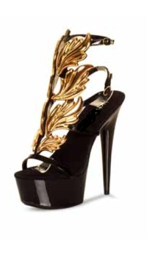 CHANTAL LEAF SANDAL - GOLD-
