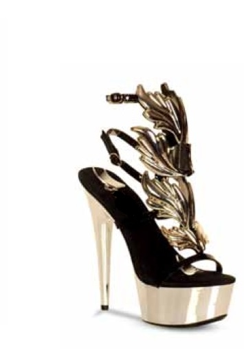 CHANTAL LEAF SANDAL - CHROME-
