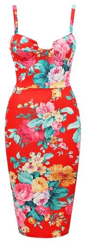 CHRISTINA FLORAL DRESS-