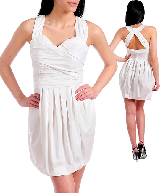 WHITE KRIS KROSS DRESS-white, dress, cris, cross, kris, kross, criscross