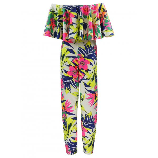 ELIDA TROPICAL JUMPSUIT-