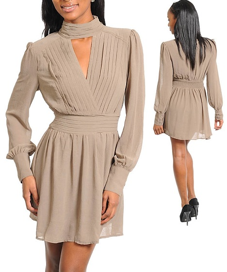 THE ERIN DRESS - MOCHA-