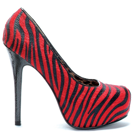 GABBY PUMP - RED ZEBRA-