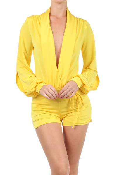 GIANNA ROMPER - YELLOW-