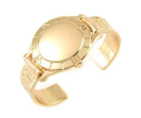 WATCHLIKE CUFF BANGLE - GOLD-