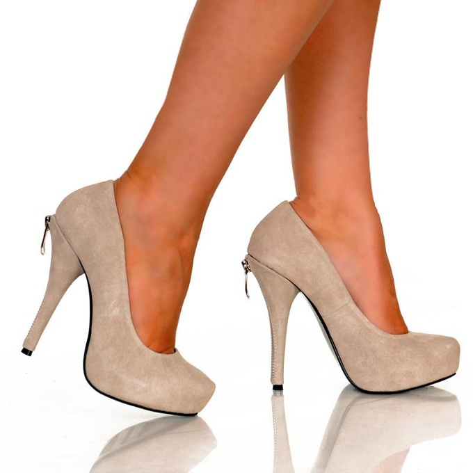 GIZELLE BOSS PUMPS - GREY-GREY, HEEL, PUMP
