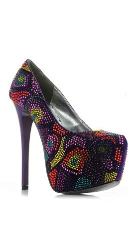HALO RHINESTONE PUMPS - PURPLE-BP607-HARPER