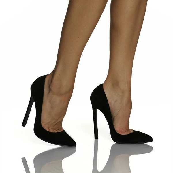 HOT GLAM HEELS - BLACK VELVET-