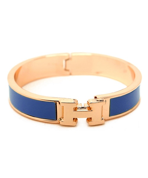 "INSPIRED ""H"" BANGLE - BLUE-"