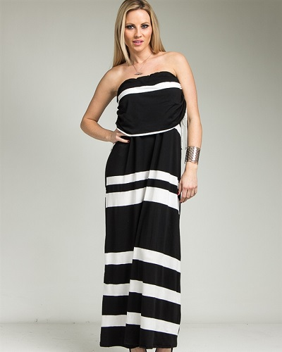 JAZLYN MAXI DRESS - BLACK-