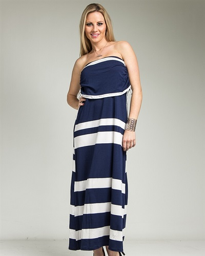 JAZLYN MAXI DRESS - BLUE-