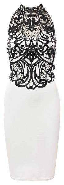JESSICA HALTER NECK DRESS - WHITE (PRE-ORDER)-