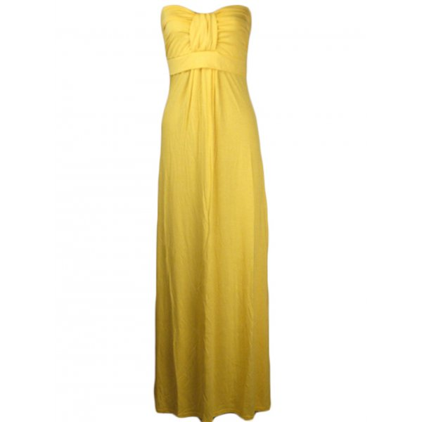 KARLA STRAPLESS MAXI DRESS - YELLOW-