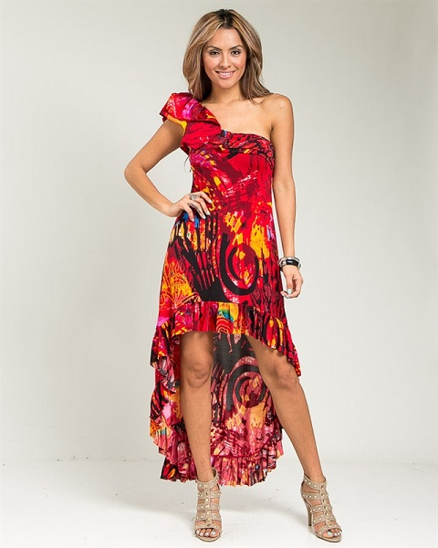 KARMEN HI-LO DRESS-