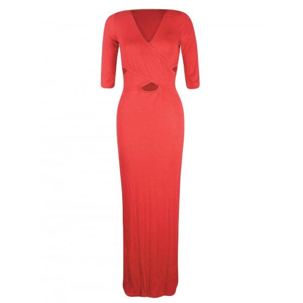 KASEY MAXI DRESS - CORAL-