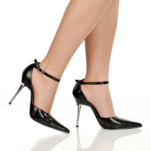KATE POINTED TOE PUMP - BLACK-SLICK-101