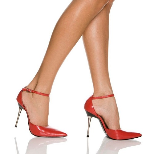 KATE POINTED TOE PUMP - RED-