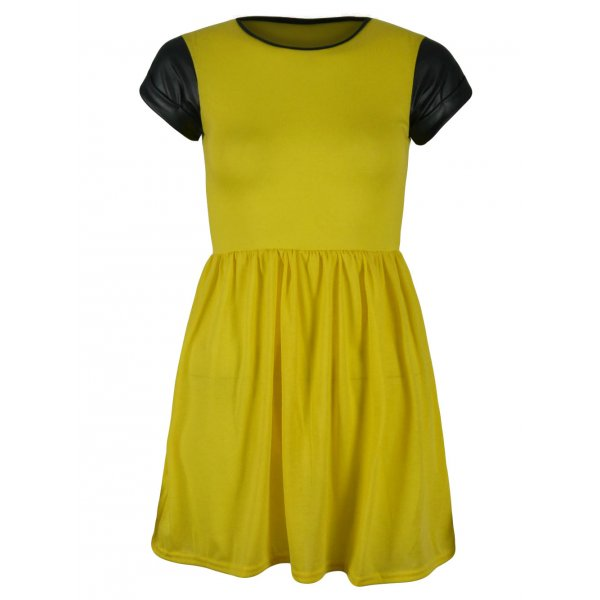 KELLY SKATER DRESS - YELLOW-